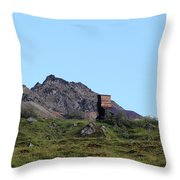 Hatcher Pass Mine Throw Pillow