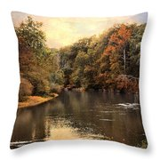 Hatchie River Throw Pillow by Jai Johnson