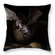 Hatching Dragons Throw Pillow