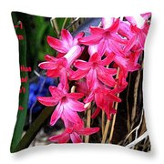 Hating Flowers Throw Pillow