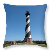 Hatteras Lighthouse Throw Pillow