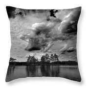 Haukkajarvi Bw Throw Pillow