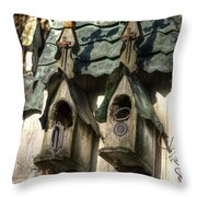 Haunted Birdhouse Throw Pillow