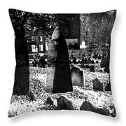 Haunted Cemetery Throw Pillow