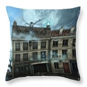 Haunted House Throw Pillow by Jutta Maria Pusl