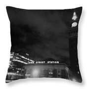 Haunted King Street Station Throw Pillow