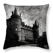 Haunted Throw Pillow by Laura Melis