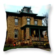 Haunted Victorian Throw Pillow