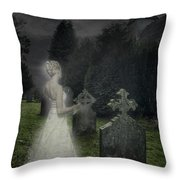 Haunting Throw Pillow by Amanda Elwell