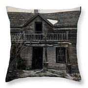 Haunting East Throw Pillow by Empty Wall