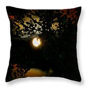 Haunting Moon IIi Throw Pillow