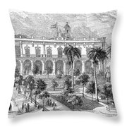 Havana: Plaza De Armas Throw Pillow