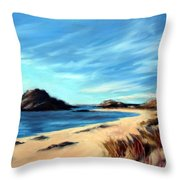 Havik Beach Throw Pillow by Janet King
