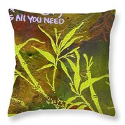 Having Faith Throw Pillow