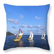 Hawaii Sailboats Throw Pillow