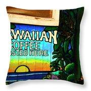 Hawaiian Coffee Throw Pillow