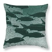 Hawaiian Goatfish School Throw Pillow