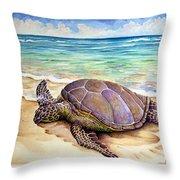 Hawaiian Green Turtle Throw Pillow