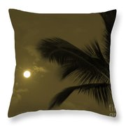 Hawaiian Palm Throw Pillow
