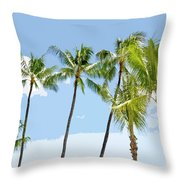 Hawaiian Palm Trees Throw Pillow