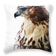 Hawk Majesty Throw Pillow