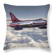 Hawker Hunter Throw Pillow
