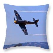 Hawker Sea Fury Throw Pillow