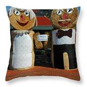 Hay Bale Wedding Throw Pillow