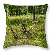 Hay Cutter 2 Throw Pillow