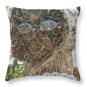 Hay Lady Throw Pillow