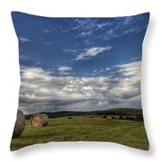 Haymaking Time Throw Pillow