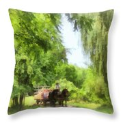 Hayride Throw Pillow