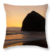 Haystack Reflections Throw Pillow