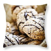 Hazelnut Cookies Throw Pillow