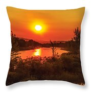 Hazy Sunrise Throw Pillow