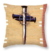He Bore It All  Throw Pillow