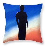 He Enlisted Throw Pillow