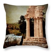 Head At Temple Of Castor And Pollux Throw Pillow