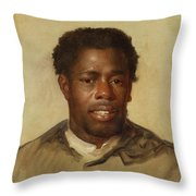 Head Of A Man Throw Pillow
