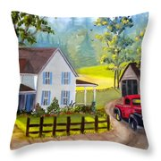 Headin' Out Throw Pillow