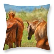 Heading Home Painterly Throw Pillow