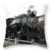 Heading Into Service - Milepost 0 Throw Pillow