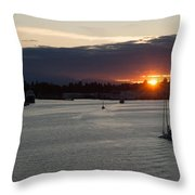 Heading Out Of Town Throw Pillow