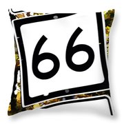 Heading West On Route 66 Throw Pillow