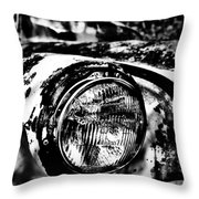 Headlights In The Woods Throw Pillow