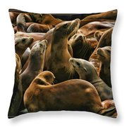 Heads Above The Rest Throw Pillow