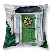 Heads Corner Farm Denmark Maine Throw Pillow