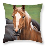 Head's Up Throw Pillow
