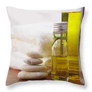 Health Spa Throw Pillow