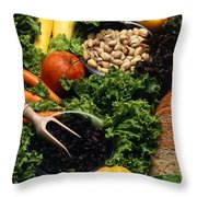 Healthy Foods Throw Pillow